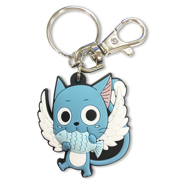 Fairy Tail: Happy Eating Fish PVC Keychain