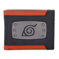 Naruto Shippuden: Leaf Village Symbol Metal Badge Bi-Fold Wallet