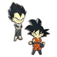 Dragon Ball Super: Goku Whis Suit & Vegeta Whis Armor Suit Pins Set of 2