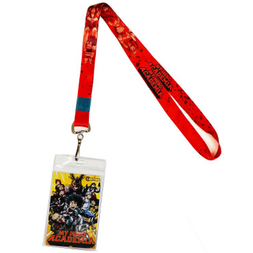 My Hero Academia: Heroes Group Red Lanyard with ID Badge Holder