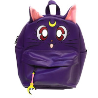 Sailor Moon: Luna Purple Mini Backpack Bag with Crescent Moon Stick