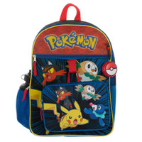 Pokemon Pocket Monsters Backpack with Supplies Set - 5 Piece