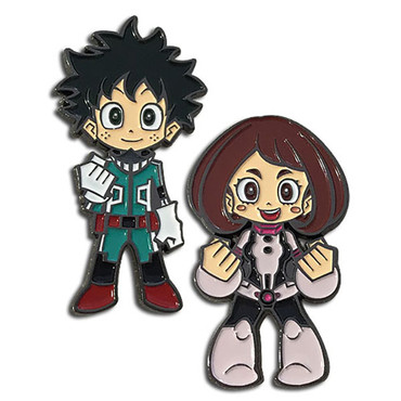My Hero Academia: Deku & Uravity Pins Set of 2