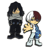 My Hero Academia: Shoto Todoroki & Shota Aizawa Pins Set of 2
