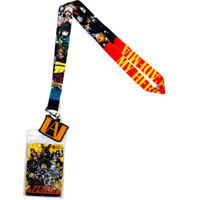 My Hero Academia Heroes Line-Up Lanyard with ID Badge Holder & Charm