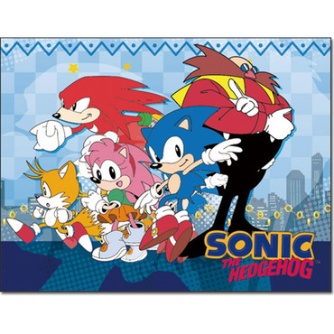 Great Eastern Ge 57718 Sonic The Hedgehog Sonic And Knuckles Throw Blanket 46x60