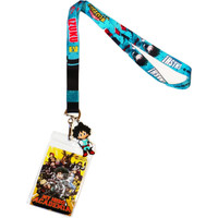 My Hero Academia Izuku Lanyard with ID Badge Holder & SD Deku Charm