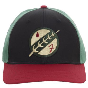 Star Wars Boba Fett Mandalorian Crest Embroidered Flex Fit Cap Hat