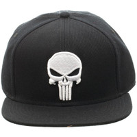 Marvel The Punisher Embroidered Skull Logo Snapback Cap Hat