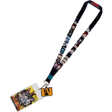 My Hero Academia SD Class 1-A Hero Portraits Lanyard with ID Badge Holder & Charm