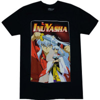 InuYasha: InuYasha & Sesshomaru Brothers Men's Black T-Shirt