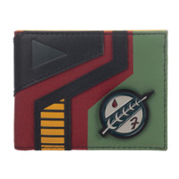 Star Wars: Boba Fett Mandalorian Symbol Metal Badge Bi-Fold Wallet