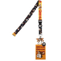 Gremlins Lanyard with Collectible Sticker ID Badge Holder & Gizmo Charm
