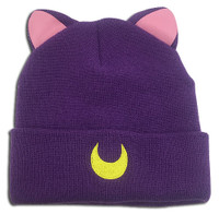Sailor Moon: Luna Cat Ear Fold Beanie Hat