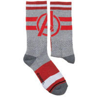 Marvel Avengers Mesh Athletic Crew Socks - One Pair