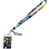 Fruits Basket Group Lanyard with ID Badge Holder & PVC Logo Charm