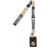 Star Wars: Boba Fett Mandalorian Suit-Up Lanyard with ID Badge Holder & Charm