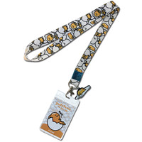 Gudetama: Lazy Egg Pattern Lanyard with ID Badge Holder & Charm