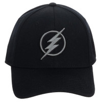 DC Comics The Flash Embroidered Symbol Flex Fitted Cap Hat