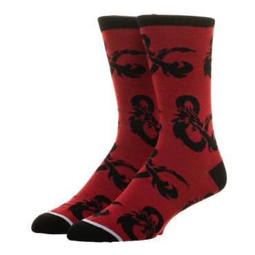 Dungeons & Dragons All Over Print Crew Sock - One Pair