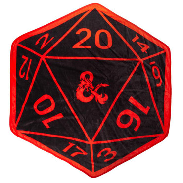Dungeons & Dragons D20 Shaped Throw Blanket