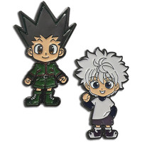 Hunter X Hunter: Gon & Kirua (Killua) Enamel Pins Set of 2