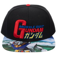 Mobile Suit Gundam Sublimated Bill Snapback Cap Hat
