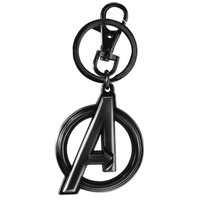 Marvel Black Widow Avengers Logo Pewter Key Ring Keychain