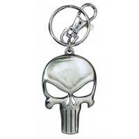 Marvel The Punisher Skull Logo Pewter Key Ring Keychain