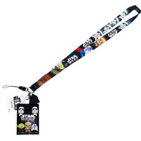 Star Wars Lanyard with ID Badge Holder & Darth Vader Soft Dangle Charm