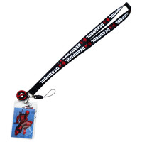 Marvel Deadpool Lanyard with ID Badge Holder & PVC Soft Dangle Charm