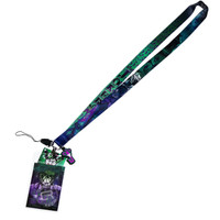 DC Comics The Joker Lanyard with ID Badge Holder & PVC Soft Dangle Charm