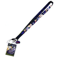 Disney Villains Lanyard with ID Badge Holder & Soft Dangle Charm