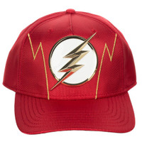 DC Comics The Flash Logo Ballistic Nylon Pre-Curved Snapback Cap Hat