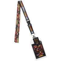Godzilla Lanyard with Collectible Sticker ID Badge Holder & Charm
