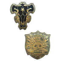 Black Clover: The Black Bulls & The Golden Dawn Pins Set of 2