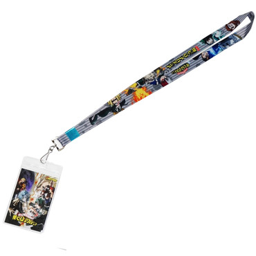 My Hero Academia: Heroes Group Gray Stripes Lanyard with ID Badge Holder