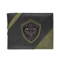 The Legend of Zelda Hylian Shield Metal Badge Bi-fold Wallet