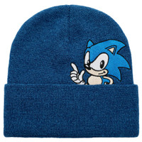 Sonic The Hedgehog: Sonic Peekaboo Knit Cuffed Beanie Hat