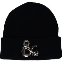 Dungeons & Dragons Ampersand Chrome Weld Logo Cuffed Beanie Hat