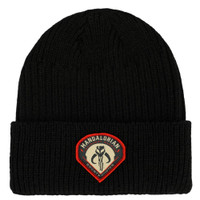 Star Wars The Mandalorian Bounty Hunter Patch Cuffed Beanie Hat