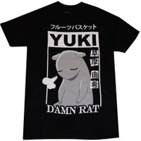 Fruits Basket: Yuki Damn Rat Men's Black T-Shirt
