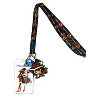 Konosuba: Megumin Lanyard with ID Badge Holder & PVC Charm