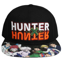 Hunter x Hunter Logo Flat Bill Snapback Cap Hat