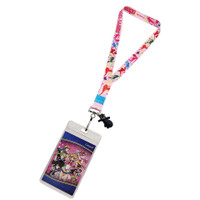Sailor Moon S: Pretty Guardians Toss Print Lanyard with ID Badge Holder & Luna Charm