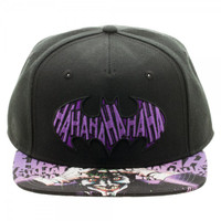 Batman The Joker Sublimated Bill Snapback Cap Hat