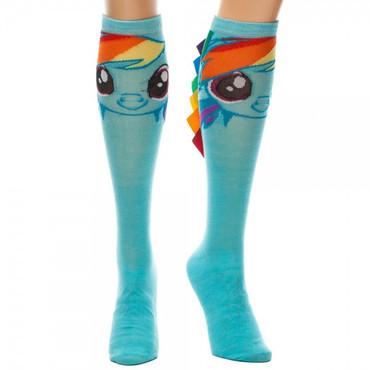 My Little Pony: Rainbow Dash Knee High Socks with Hair