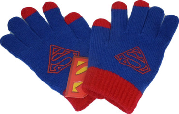 Superman Touch Screen Tech Knit Gloves