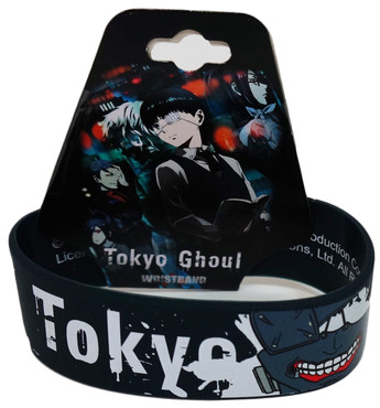 Tokyo Ghoul Logo and Kaneki's Mask PVC Wristband