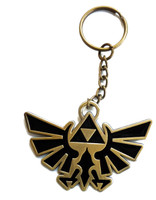 The Legend of Zelda Twilight Princess: Metal Trifoce Symbol Key Chain